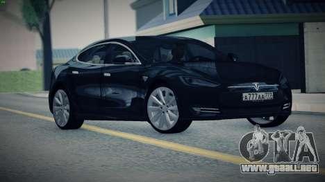 Tesla Model S para GTA San Andreas vista posterior izquierda