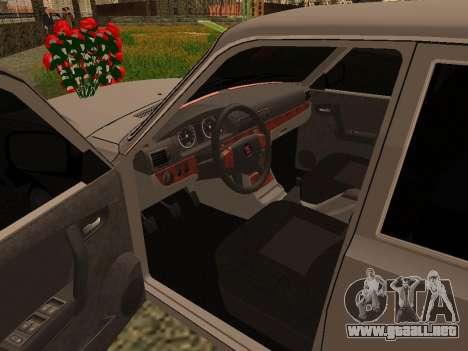 GAZ 31105 Volga para GTA San Andreas vista hacia atrás