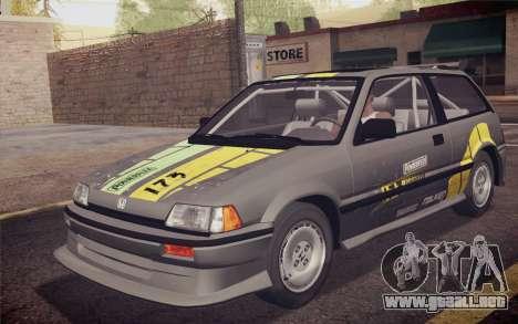 Honda Civic S 1986 IVF para el motor de GTA San Andreas