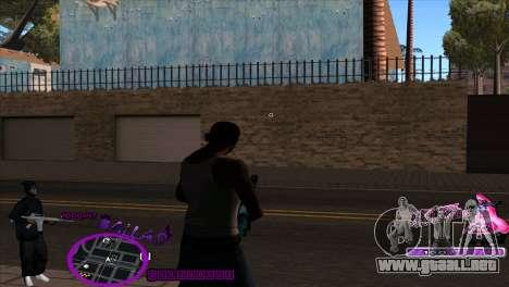 C-HUD Ballas by HARDy para GTA San Andreas segunda pantalla