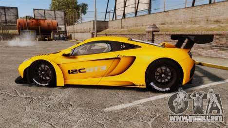 McLaren MP4-12C GT3 (Updated) para GTA 4 left