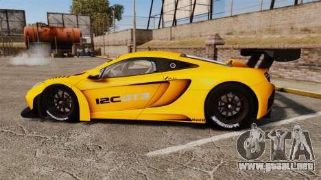 McLaren MP4-12C GT3 (Updated) para GTA 4 left