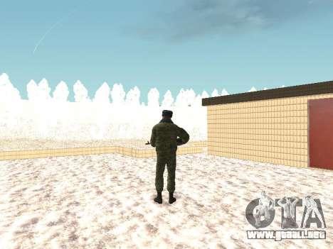 Militar en el uniforme de invierno para GTA San Andreas tercera pantalla