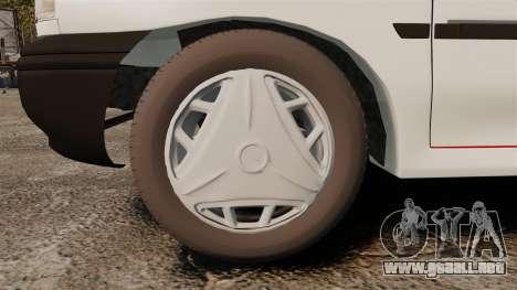 Kia Pride 131 EX para GTA 4 vista hacia atrás