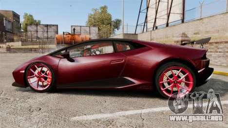 Lamborghini Huracan 2014 Oakley Tuning para GTA 4 left