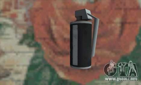 Gas grenade para GTA San Andreas segunda pantalla