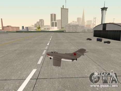 MiG 15 Bis para la visión correcta GTA San Andreas