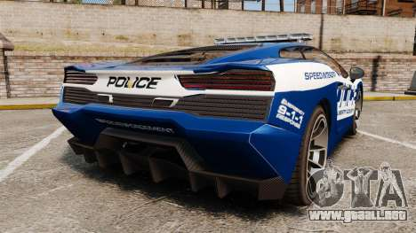 GTA V Pagassi Vacca Police para GTA 4 Vista posterior izquierda
