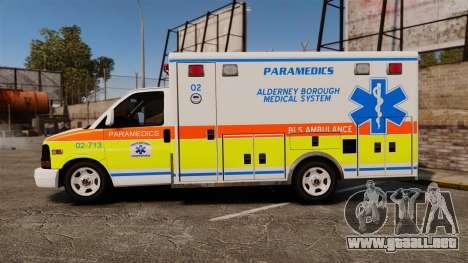 GMC Savana 2005 Ambulance [ELS] para GTA 4 left