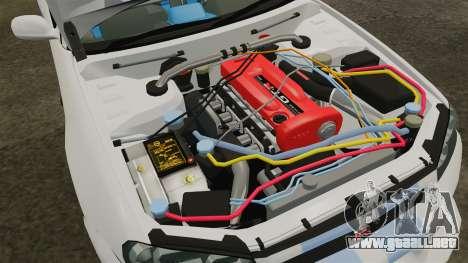 Nissan Skyline GT-R R34 V-Spec 1999 para GTA 4 vista hacia atrás