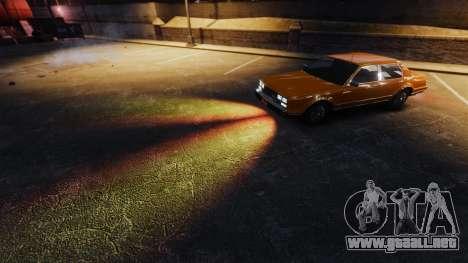 La ardiente luz de los faros para GTA 4