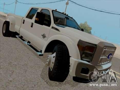 Ford F450 Super Duty 2013 para GTA San Andreas left