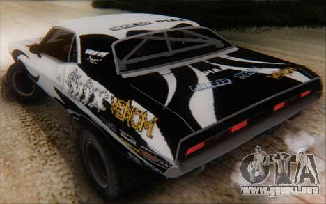 Dodge Challenger 1971 Aftermix para visión interna GTA San Andreas