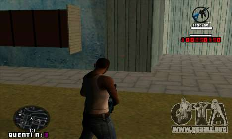 C-HUD Quentin para GTA San Andreas segunda pantalla