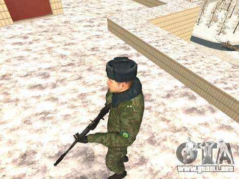 Militar en el uniforme de invierno para GTA San Andreas segunda pantalla