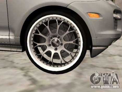 Porsche Cayenne Turbo S para la visión correcta GTA San Andreas