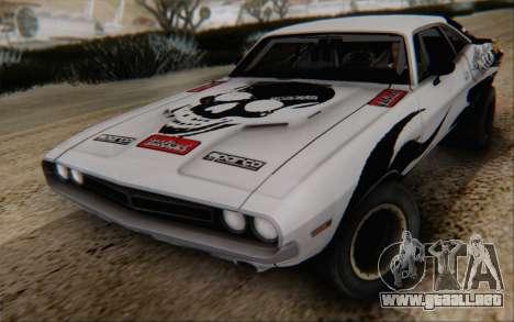 Dodge Challenger 1971 Aftermix para GTA San Andreas vista hacia atrás
