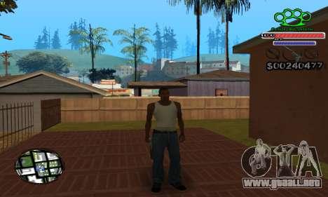C-HUD Gangster by NickQuest para GTA San Andreas