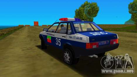 VAZ 21099 milicia para GTA Vice City vista superior