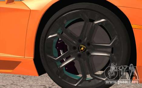 Lamborghini Aventador LP 700-4 para GTA San Andreas vista posterior izquierda