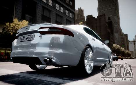Jaguar XF-R 2012 v1.2 para GTA 4 ruedas