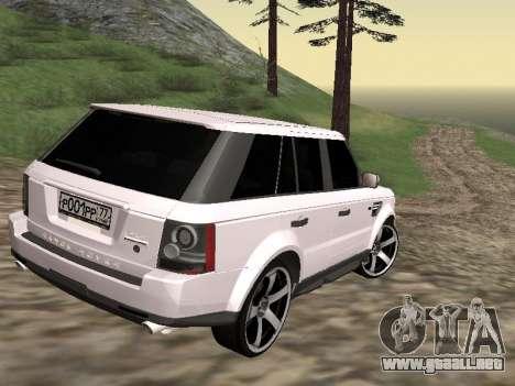Range Rover Sport 2011 para GTA San Andreas vista posterior izquierda