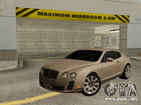 Bentley Continental Supersports para GTA San Andreas
