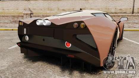 Marussia B2 para GTA 4 Vista posterior izquierda