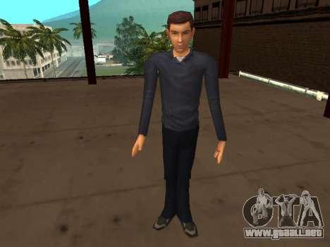 Peter Parker desde el juego Spider-Man 2 para GTA San Andreas sucesivamente de pantalla