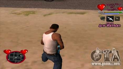C-HUD Ministry Of Health para GTA San Andreas segunda pantalla