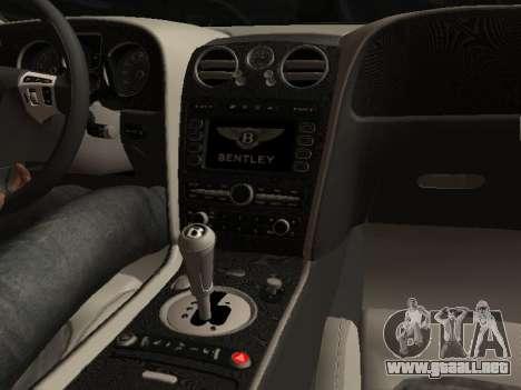 Bentley Continental Supersports para GTA San Andreas vista hacia atrás