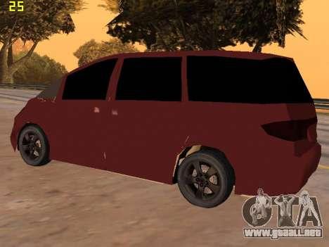 Toyota Estima 2wd para la visión correcta GTA San Andreas