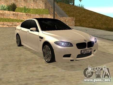 BMW M5 F10 V2.0 para la visión correcta GTA San Andreas