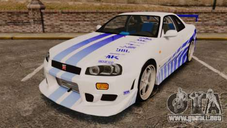 Nissan Skyline GT-R R34 V-Spec 1999 para GTA 4