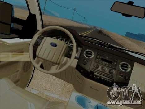 Ford F450 Super Duty 2013 para GTA San Andreas vista hacia atrás