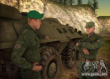 El ejército ruso moderno para GTA San Andreas segunda pantalla