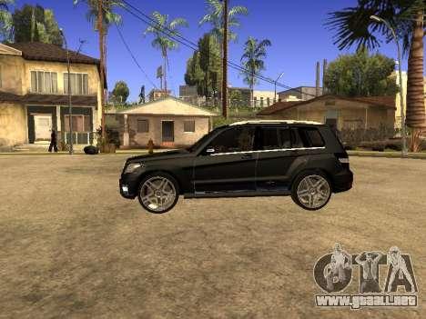 Mercedes-Benz GLK para GTA San Andreas vista hacia atrás