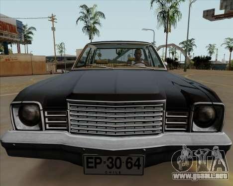 Dodge Aspen para GTA San Andreas vista posterior izquierda