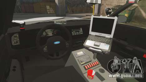 Ford Crown Victoria Traffic Enforcement [ELS] para GTA 4 vista interior