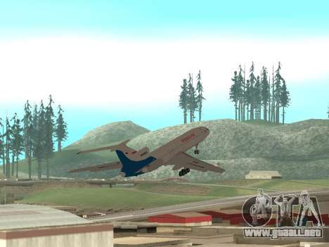 Tu-154 B-2 SCC de Rusia para la vista superior GTA San Andreas