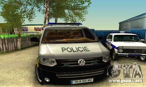 Volkswagen Transporter Policie para GTA San Andreas left