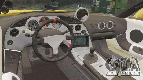 Toyota Supra 1994 (Mark IV) Slap Jack para GTA 4 vista lateral