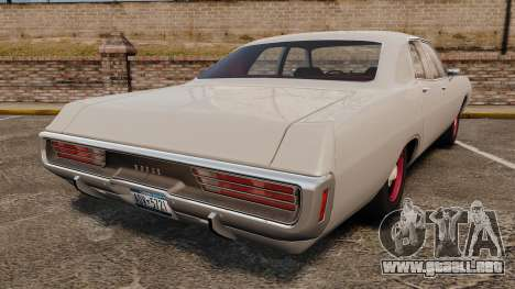 Dodge Polara 1971 para GTA 4 Vista posterior izquierda
