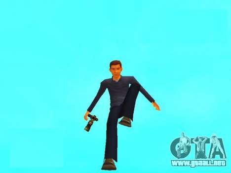 Peter Parker desde el juego Spider-Man 2 para GTA San Andreas segunda pantalla
