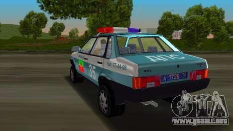 VAZ 21099 milicia para GTA Vice City left