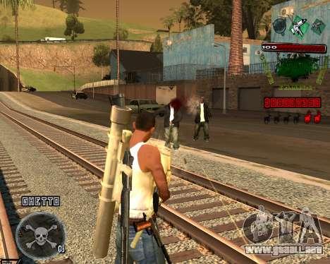 C-HUD Grove St para GTA San Andreas tercera pantalla