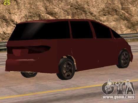 Toyota Estima 2wd para GTA San Andreas left