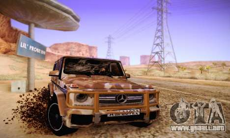 Mercedes Benz G65 Army Style para GTA San Andreas vista hacia atrás