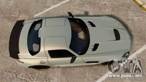 Mercedes-Benz SLS 2014 AMG Black Series para GTA 4 visión correcta