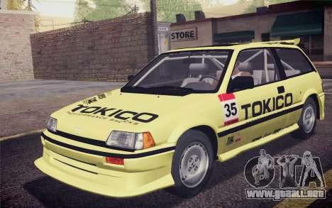 Honda Civic S 1986 IVF para las ruedas de GTA San Andreas
